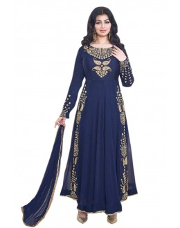 Ayesha Takia In Navy Blue Georgette Anarkali Suit  - 71104G