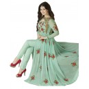 Ayesha Takia In Green Georgette Slit Anarkali Suit  - 71127A
