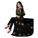 Ayesha Takia In Black Georgette Slit Anarkali Suit  - 71127C