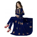 Ayesha Takia In Blue Georgette Slit Anarkali Suit  - 71127D