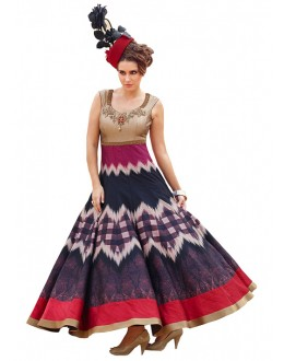 Fancy Multi-Colour Banglori Silk Gown - 71132