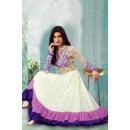 Festival Wear Off White Georgette Anarkali Suit  - 71158