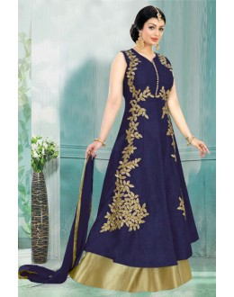 Ayesha Takia In Navy Blue Lehenga Suit  - 71165A