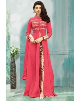 Ethnic Wear Pink Georgette Indo Western Suit  - 71167