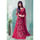 Ethnic Wear Red Net Indo Western Suit  - 71170