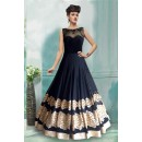 Bollywood Inspired - Party Wear Navy Blue Gown - 71198