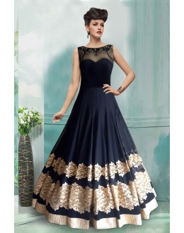37ffffba2d2 Quick View Bollywood Inspired - Party Wear Navy Blue Gown - 71198