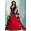 Bollywood Inspired - Velvet Blue Indo Western Suit - 71204