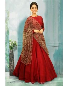 Bollywood Inspired - Tamanna Bhatia Red Anarkali Suit - 71208