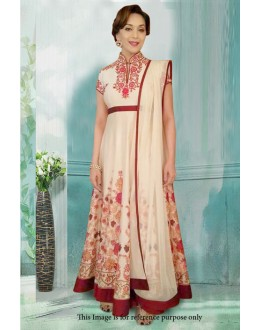 Bollywood Inspired - Festival Wear Cream Gown - 71211