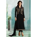 Prachi Desai In Black Georgette Salwar Suit  - 71177A