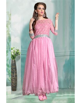 Wedding Wear Pink Net Gown - 71184B
