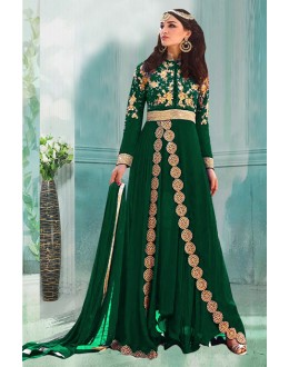 Georgette Green Embroidery Anarkali Suit  - 71188C