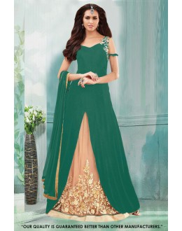 Green Colour Georgette Indo Western Suit - 71230C