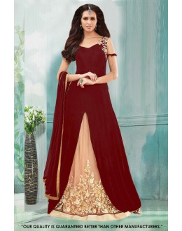 Maroon Colour Georgette Indo Western Suit - 71230D