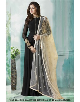 Party Wear Black Georgette Anarkali Gown - 71231B