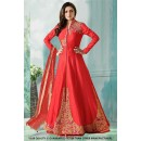Wedding Wear Red Taffeta Indo Western Suit - 71232A