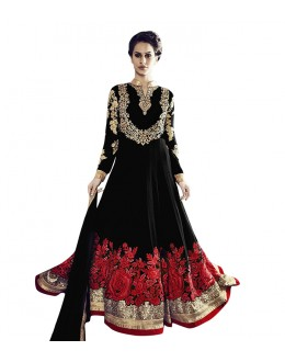Party Wear Black Georgette Anarkali Suit  - 71252B