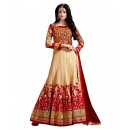 Festival Wear Cream & Maroon Net Anarkali Suit  - 71257