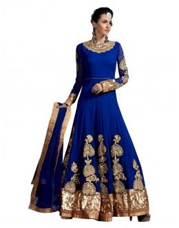 Designer Blue Georgette Anarkali Suit  - 71258