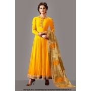 Ethnic Wear Yellow Georgette Anarkali Suit  - 71276A