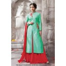 Festival Wear Light Green Banglori Lehenga Suit  - 71287