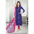Festival Wear Blue Chanderi Salwar Suit - 71294