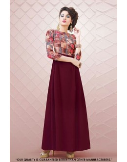 Readymade Multi-Colour Printed Gown - 71298