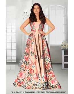 Wedding Wear Multi-Colour Banglori Silk Gown - 71302