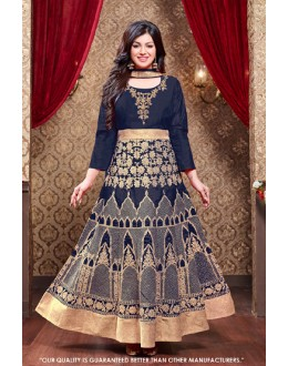 Ayesha Takia In Blue Silk Anarkali Suit  - 71305B