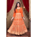 Ayesha Takia In Orange Silk Anarkali Suit  - 71305C