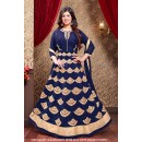 Ayesha Takia In Blue Faux Georgette Anarkali Suit  - 71306B
