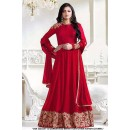 Party Wear Red Georgette Long Anarkali Gown - 71312A