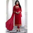 Prachi Desai In Red Georgette Salwar Suit - 71320