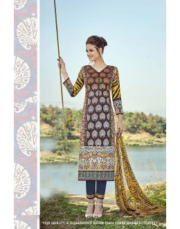 Casual  Wear Multi Colour Cotton Salwar Suit - 71332