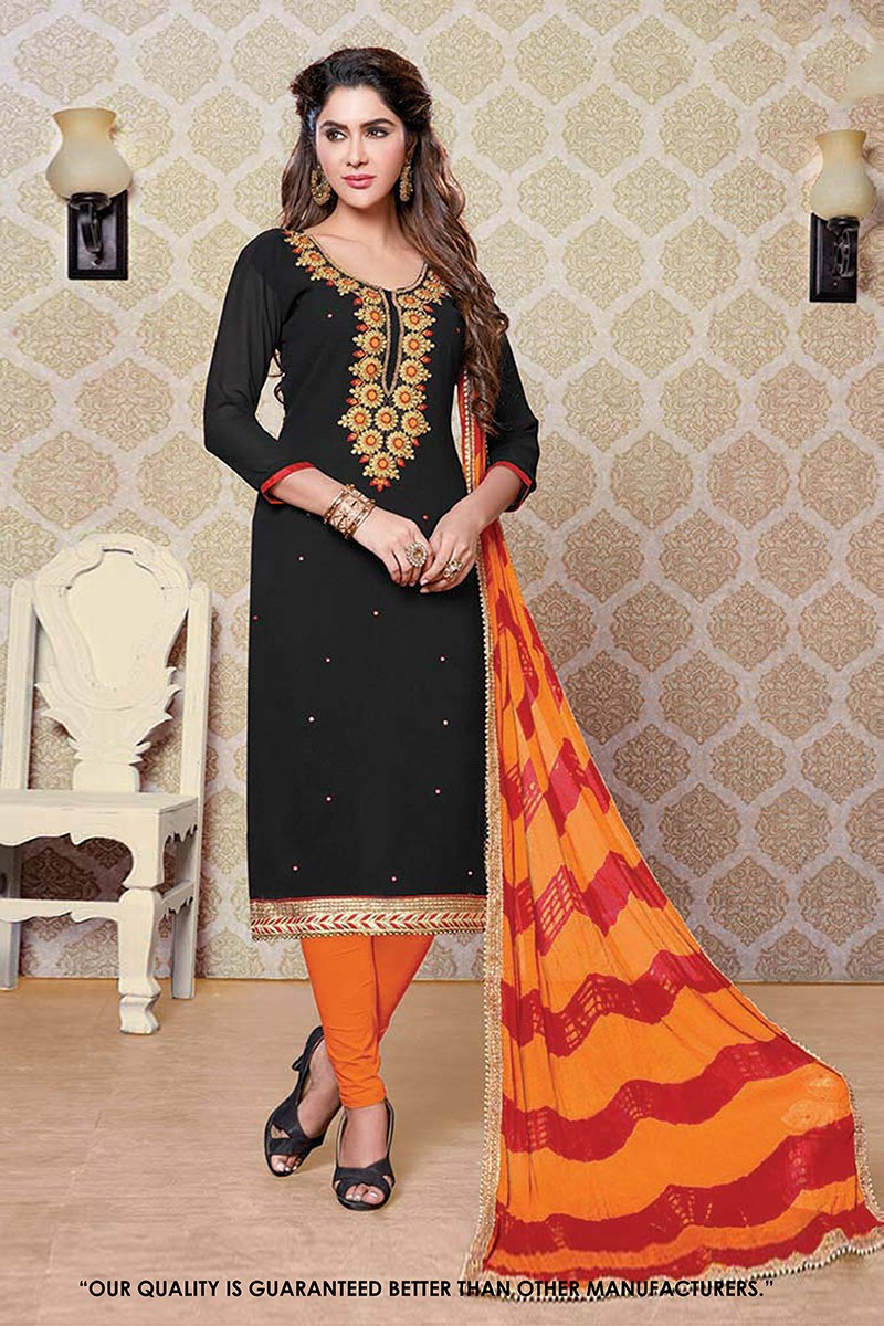 Festival Wear Black Georgette Salwar Suit - 71356