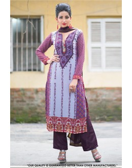 Casual Wear Multi Colour Georgette Salwar Suit - 71394