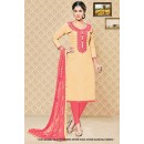 Wedding Wear Beige Cambric Cotton Salwar Suit - 71409