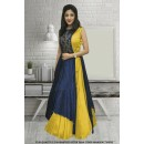 Wedding Wear Yellow Banglori Gown - 71307A