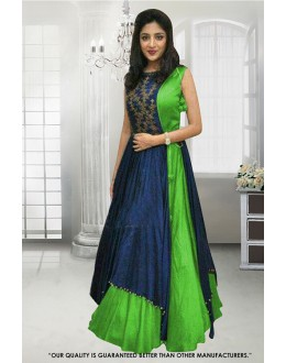 Wedding Wear Green Banglori Gown - 71307C