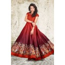 Party Wear Readymade Red Gown - 71422