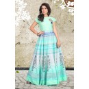 Traditional Wear Readymade Sky Blue Anarkali Gown - 71426