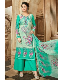Party Wear Green Rayon-Modal Salwar Suit - 71431