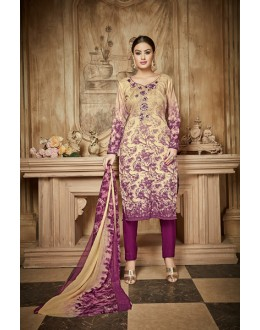Casual Wear Multi Colour Rayon-Modal Salwar Suit - 71434