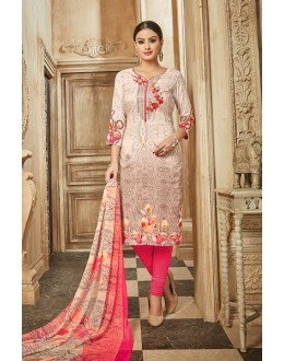 Ethnic Wear Multi Colour Rayon-Modal Salwar Suit - 71437