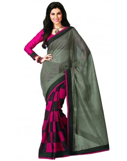 Party Wear Bhagalpuri Green Saree - 80172