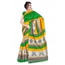 Party Wear Bhagalpuri Green Saree - 80177