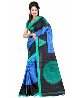 Party Wear Bhagalpuri Multicolor Saree - 80161