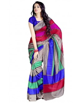 Party Wear Bhagalpuri Multicolor Saree - 80170