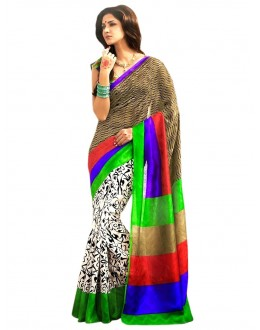 Party Wear Bhagalpuri Multicolor Saree - 80183